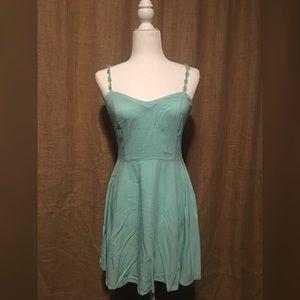 Aeropostale Sz M Teal Green Dress Daisy Straps